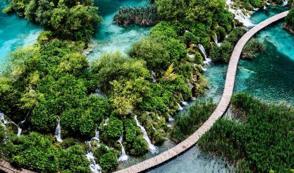 De schoonheid van de Platvice meren